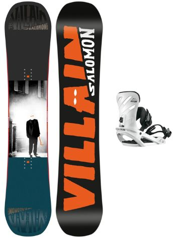 Salomon The Villain Grom 145W + Rhythm Wht 2018 Boys Conjunto snowboard
