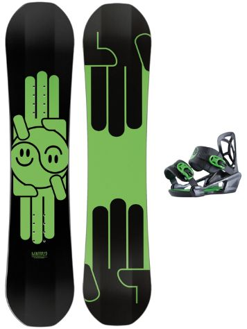 Bataleon Mini Shred 100 + Mini Shred Bdg 2018 Snowboard set