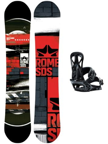 Rome Mechanic 159 + United L Blk 2018 Snowboard set