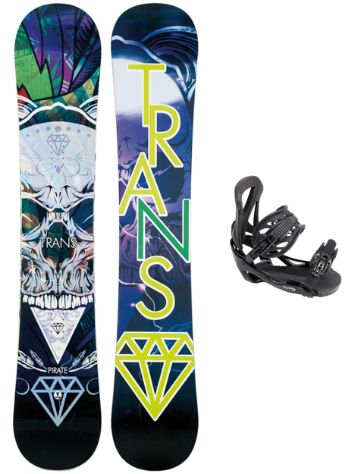 TRANS Pirate 156 + Team L Blk 2018 Snowboard Set