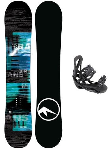 TRANS LTD 157W + Team L Blk 2018 Snowboard Set