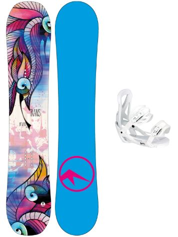 TRANS FR Wood 147 + Team Girl M Wht 2018 Snowboard Set
