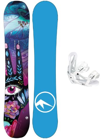 TRANS LTD 139 + Team Girl M Wht 2018 Snowboard Set