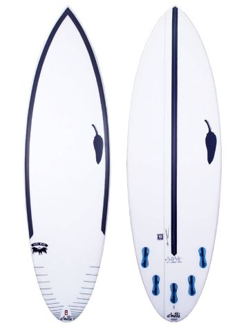LSD Surfboards Chilli Rare Bird 5.10 50/50 Fcsii Surfboard