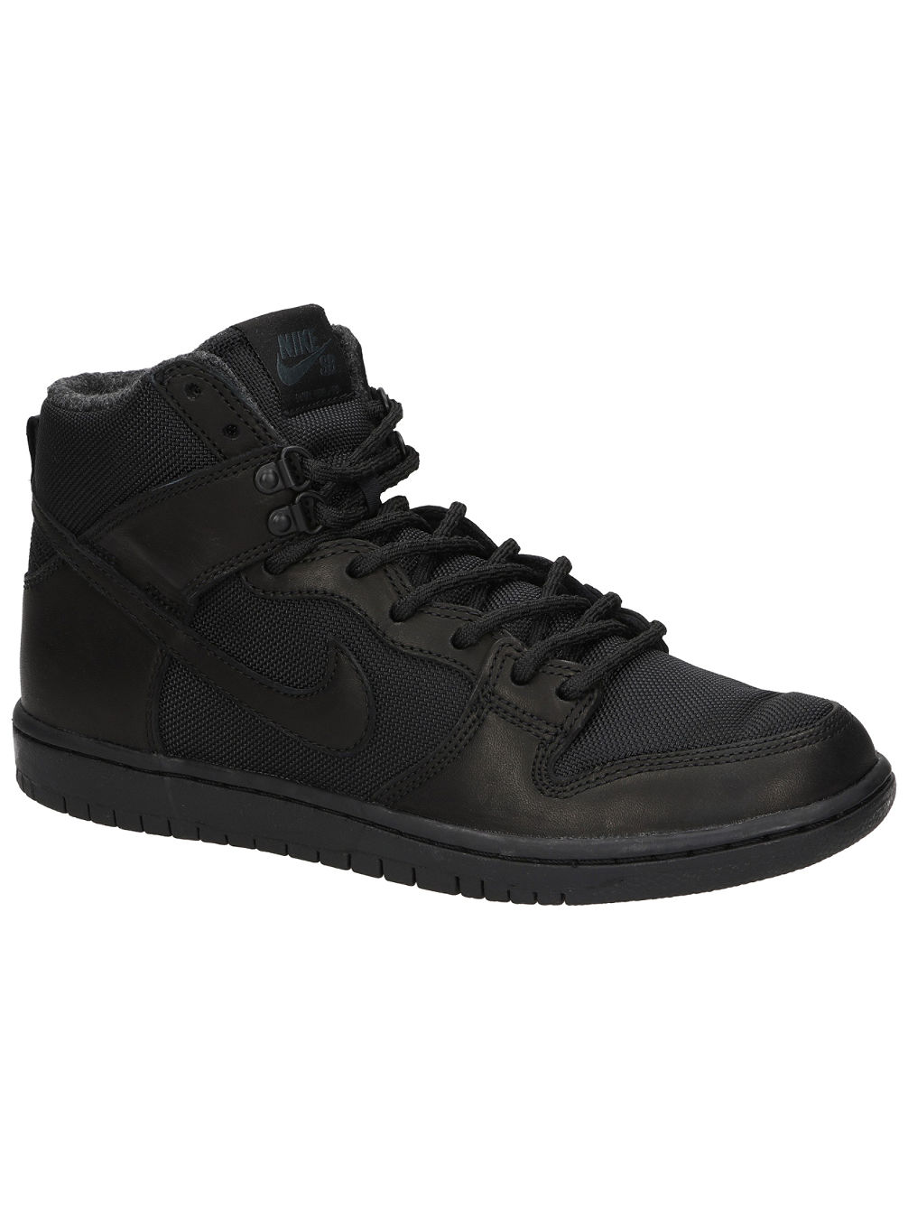 Nike Black Leather Skate Shoes